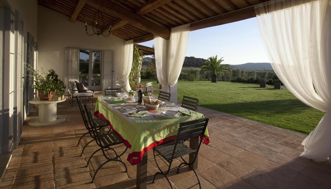 La Sassicaia vista veranda